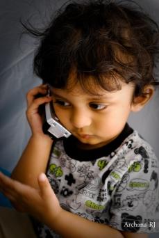 kid talking on phone